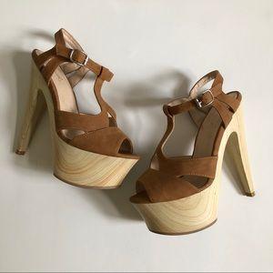 Brown Platform Stiletto Sandals